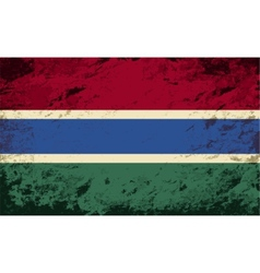 Gambian flag Grunge background vector