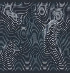 Grey color wave line pattern vector