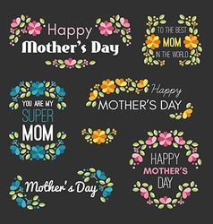 happy mothers day set design elements vector image