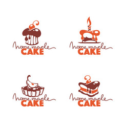 home made cake bakery pastry confectionery vector image