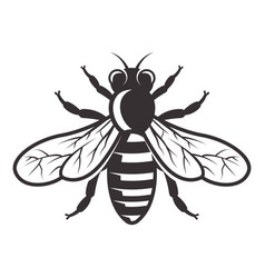 Honey bee monochrome style vector
