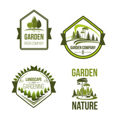 Icons for landscape or gardening company vector