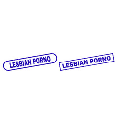 Lesbian porno blue rectangle stamp with unclean vector
