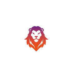 Lion head logo design symbol vector