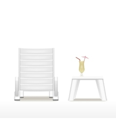 lounger table and cocktail vector image