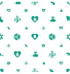 mouse icons pattern seamless white background vector image