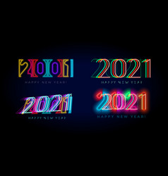 new year 2021 numbers for digital display design vector image