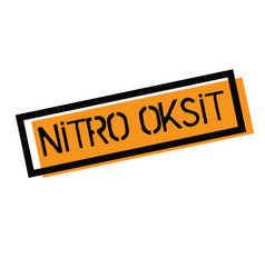 Nitrous oxide stamp in turkish vector