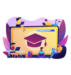 online courses concept vector image
