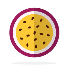 passion fruit in section flat isolated vector image