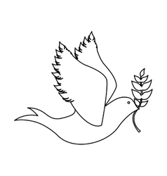 peace dove icon image vector image