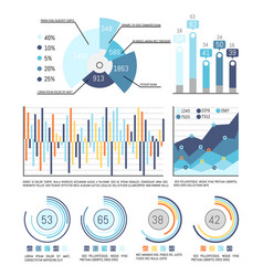pie diagram with percentage and infographics vector image