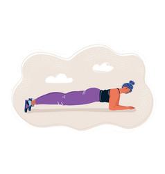 Pretty woman planking vector