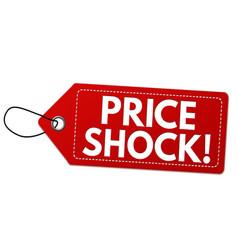 Price shock label or price tag vector