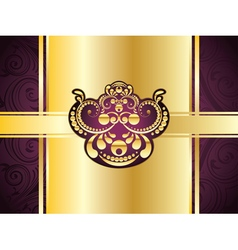 Purple Decorative Background9 vector image