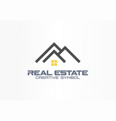 real estate agent creative symbol concept roof vector image