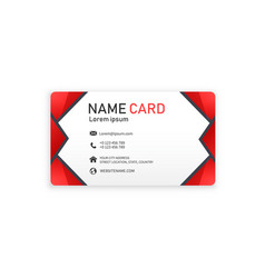 red business abstract name card image vector image