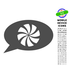 refresh message icon with set vector image