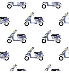 Seamless Blue Scooter Pattern vector