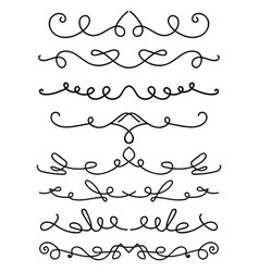 set hand drawn calligraphic elements for vector image