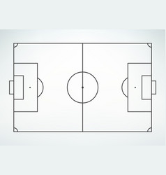 soccer field line style vector image