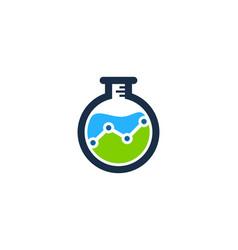 Stats science lab logo icon design vector