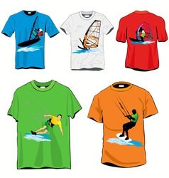 Surf tshirts vector
