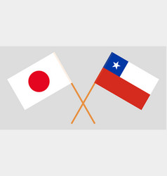 The chilean and japanese flags vector