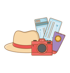 Tourist trip summer travel vector