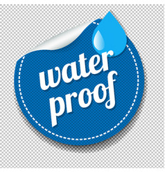 Water proof sticker isolated transparent vector
