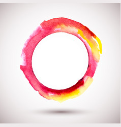 watercolor-ring-red-yellow vector image