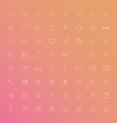 Web Icon Thin Line vector