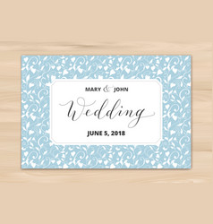 Wedding card with hearts pattern background vector
