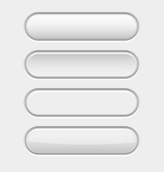 White oval interface buttons active pushed vector