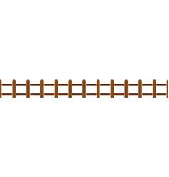Wood fence set vector