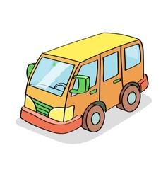 Cartoon Bus Colored vector image