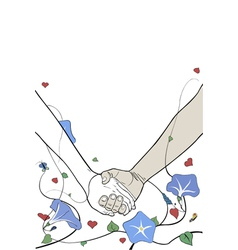 hands holding vector image vector image