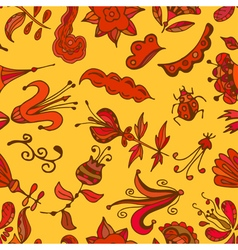 Multicolor seamless pattern Floral design vector image vector image