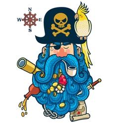 Pirate Portrait vector image vector image