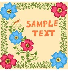 Retro doodle floral background vector image vector image