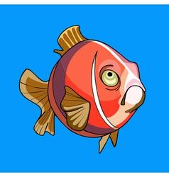 pink cartoon fish vector image vector image