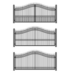 Set of gates vector image vector image