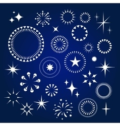 Starburst stars and sparkles burst icons set vector