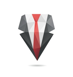 Suit with tie abstract vector image vector image