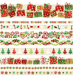 Background with Christmas theme and elements vector image