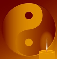 Buddhist Candle vector image vector image