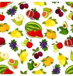Fresh juicy bright fruits pattern vector image