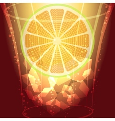 ice cubes and lemon slice vector image