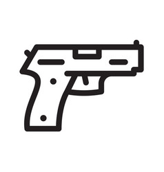 pistol gun icon on the white vector image vector image