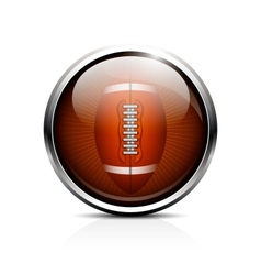 Rugby ball icon vector image vector image